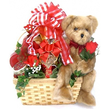 Bear Hugs Romantic Gift Basket