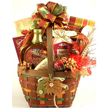 Falling Leaves Autumn Breakfast Gift Basket