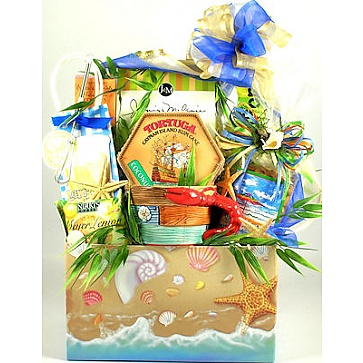Life's A Beach Gift Basket