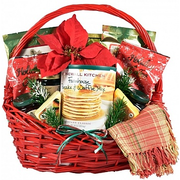 Country Christmas Breakfast Basket - Large