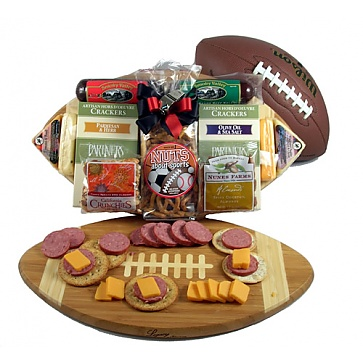 Halftime Favorites Football Gift Basket