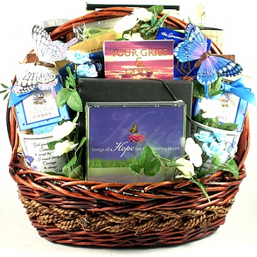 In Our Prayers Sympathy Gift Basket