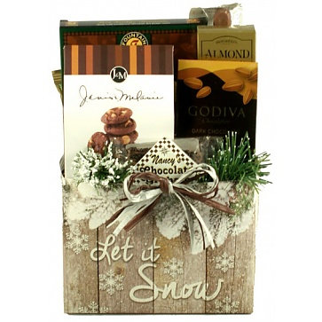 Let It Snow Holiday Gift Basket(Small)