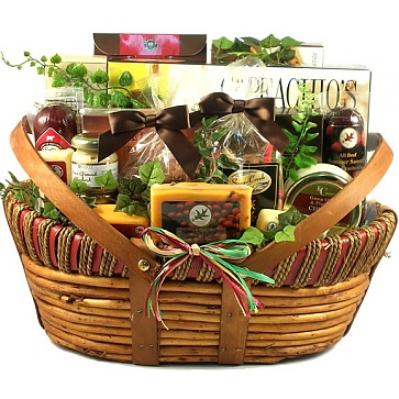The Midwesterner Cheese And Sausage Gift Basket (Large)