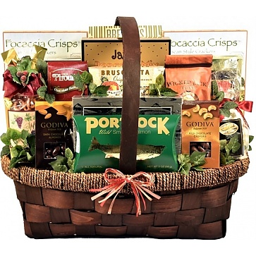 The Seasons Best Holiday Gift Basket - Front View