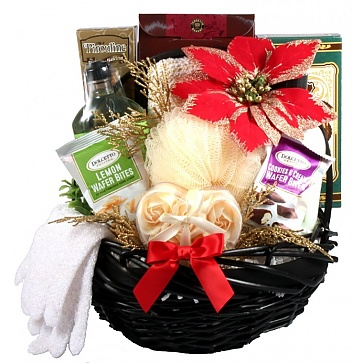Spa Day Holiday Gift Basket for Her