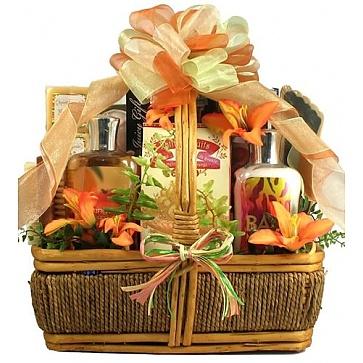 Island Getaway Tropical Spa Gift Basket