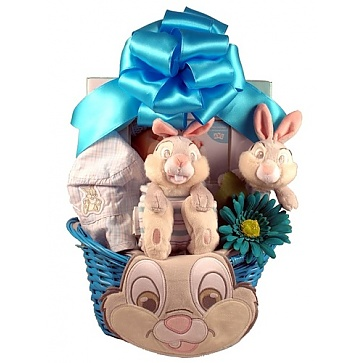 Easter With Thumper, Baby Boy Easter Basket