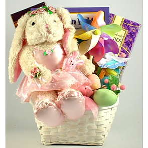 Ballerina Bunny Gift Basket - Send kids Easter baskets online
