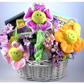 Easter Cheer Deluxe Gift Basket - Send Easter baskets online