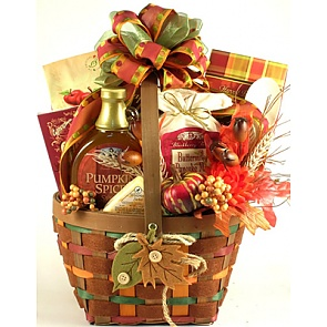 Falling Leaves Autumn Breakfast Gift Basket -
