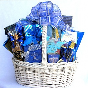 Festival of Lights Gift Basket (Medium) - Hanukkah Gift Baskets - Chanukah Gifts