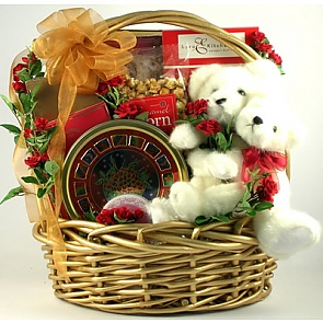 Love Bears All Things Gift Basket - Romantic Gift Baskets for Couples