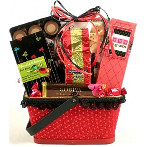 X's and O's, Valentines Day Gift Basket - Valentine's Day Gift Baskets