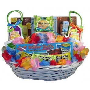 Beach Party - Tropical Treats Gift Basket -