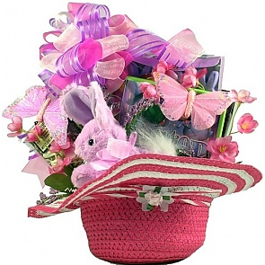 Girls Just Wanna Have Fun! Easter Gift Basket - Send kids Easter baskets online