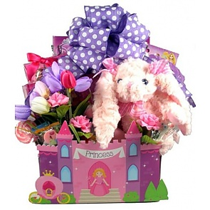 Fit For A Princess, Easter Gift Basket - Large - Send kids Easter baskets online