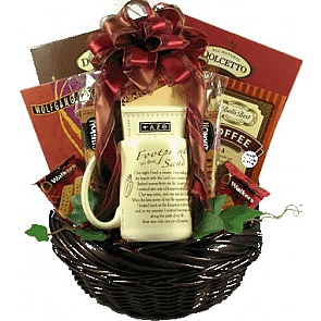 Footprints In The Sand Gift Basket -