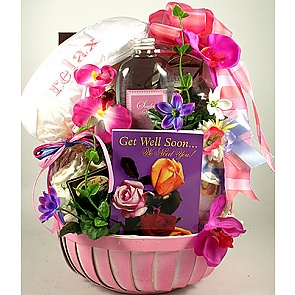 Get Well Soon For Her Gift Basket -