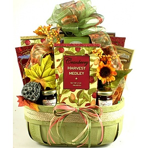 Harvest Medley Gourmet Fall Gift Basket -