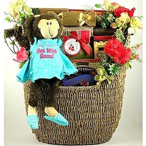 Hang In There Get Well Gift Basket -