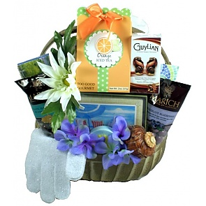 Harbor Breeze Spa and Sweets Gift Basket - Spa Gift Baskets for Women