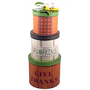 Harvest Blessings Gift Basket - Harvest Blessings Gift Tower #FallGiftBasket #ThanksgivingGiftBasket