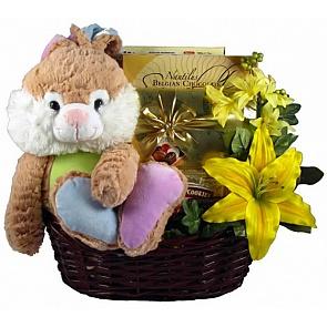 Hippity Hoppity Easter Basket - Send Easter basket for adults #Easterbasketsforadults