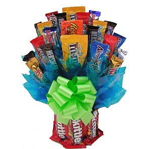Skittles and More Candy Bouquet - Large - Send Candy Bouquets #SkittlesCandyBouquet