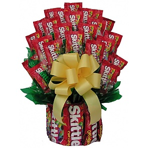 All Skittles Candy Bouquet - Medium - Send Candy Bouquets #SkittlesCandyBouquet