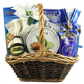 Hanukkah Celebration, Kosher Hanukkah Gift Basket (Medium) - Hanukkah Gift Baskets - Chanukah Gifts