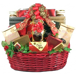 Love Bites Deluxe Gift Basket - Romantic Gift Baskets for Couples
