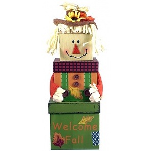 Autumn Greetings Gift Tower - Autumn Greetings Gift Tower #ThanksgivingGiftBaskets #FallGiftBaskets