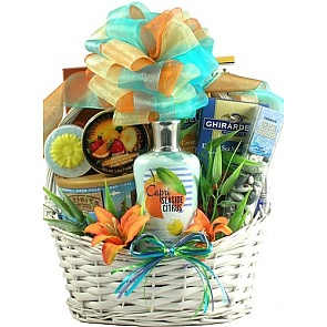 Seaside Scent-sation Tropical Spa Gift Basket - Spa Gift Baskets for Women