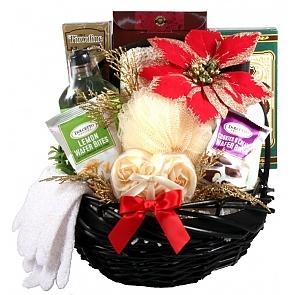 Spa Day Holiday Gift Basket for Her - Spa Gift Baskets for Women #ChristmasSpaBasket