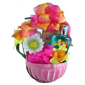 Wild Apple Daffodil Spa Basket - Spa Gift Baskets for Women